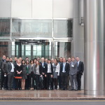 Cognicity contestants in front of 1 Canada Square in Canary Wharf