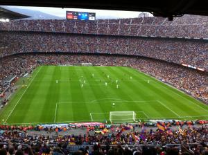 Kick off at the Nou Camp