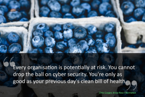 You cannot drop the ball on Cyber Security