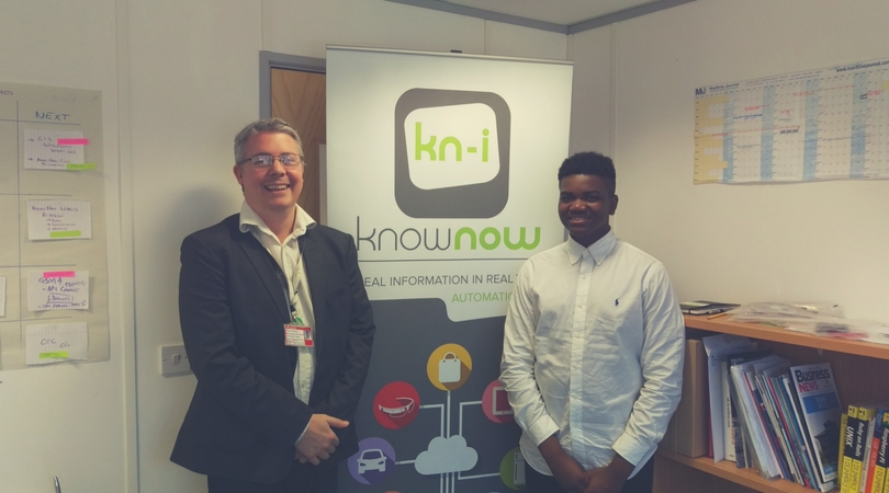 Joseph with David celebrating a successful work experience!