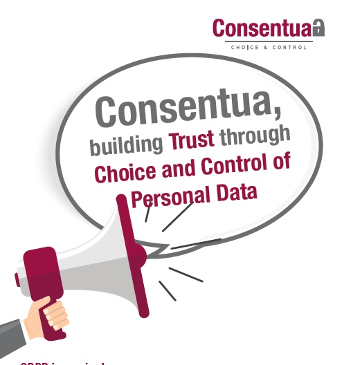 Front page from the Consentua Brochure