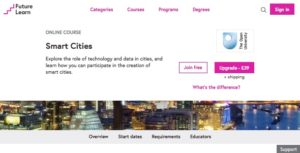 OU course on FutureLearn mentioned in the Smart City Interview