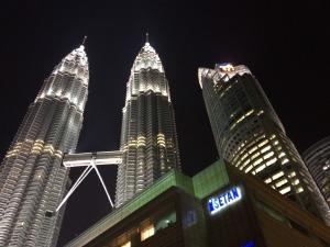 Kuala Lumpur photographed at night