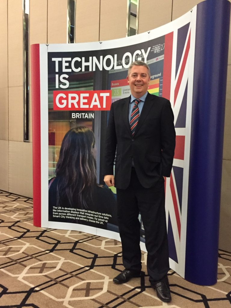 David trying to export KnowNow technology at the UK Technology Trade Mission to Malaysia -