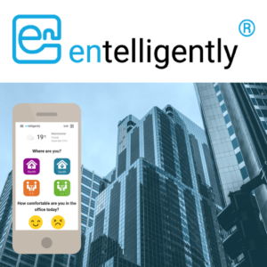 Entelligently - logo and app view