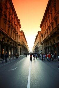 Photo of a street in Turin. Tiziana joins KnowNow before starting University in October