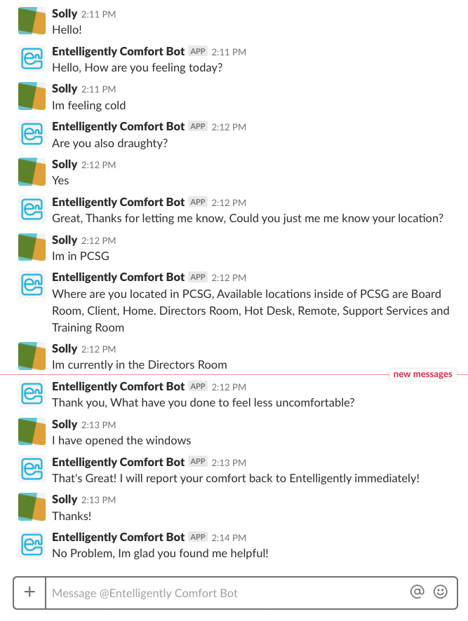 Slack output from a Watson chatbot