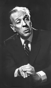 Black and White picture of Jorge Luis Borges